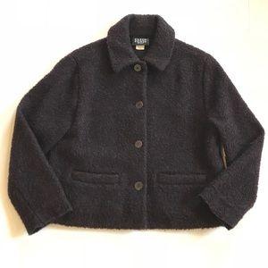 Eileen Fisher Boiled Wool Boxy Coat SZ S